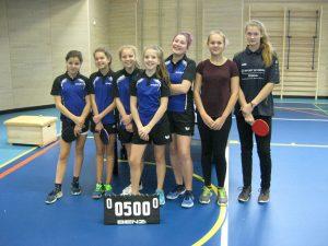 Erfolgreich bei Jugend trainiert für Olympia: die Mädchen-Mannschaft der Assisi-Schule