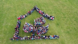 Schullogo Drohnenfoto